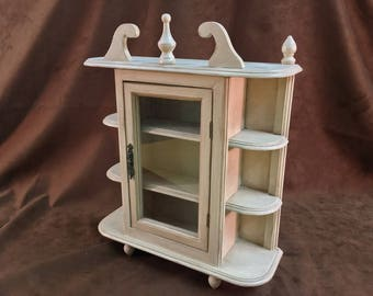 Small Wall-Hanging Curio Cabinet