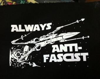X-wing antifascist patch