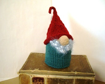 "House Gnome KOTKA Scandinavian Tomte Nordic Nisse 8-9"" 20-22 cm Rustic Home Decor Woodland House Decoration Hand Knit Home Gnome Handknit"