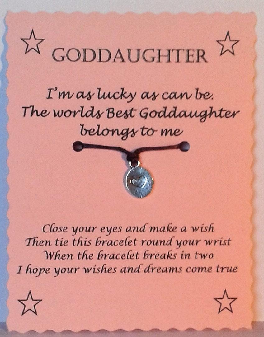 Goddaughter gift wish bracelet goddaughter bracelet zoom negle Images