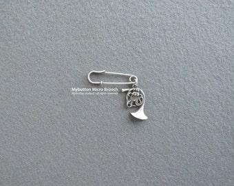 Micro charm brooch _ Horn