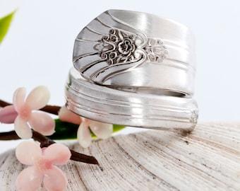 Vintage Spoon Ring - Imperial Silverware Spoon Ring - Silverware Jewelry - Spoon Jewelry - Silverware Spoon Ring - Spoon Ring (mcf 014)
