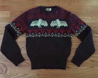 Vintage 1940's JERSILD Thunderbird Sweater Size 38 / Small / Medium