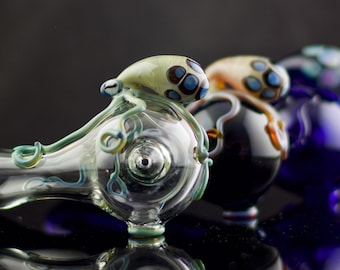 Octopus Glass Spoon Pipe in Your Choice of Color