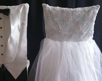 Bride and Groom Chiavari Chair Covers