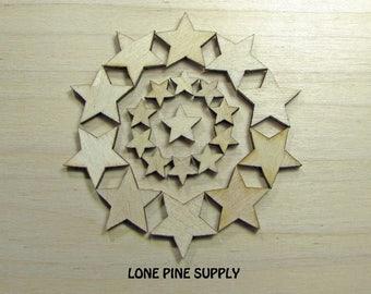 Lazer Cut Stars, Wooden Stars, 40 Wooden Stars,