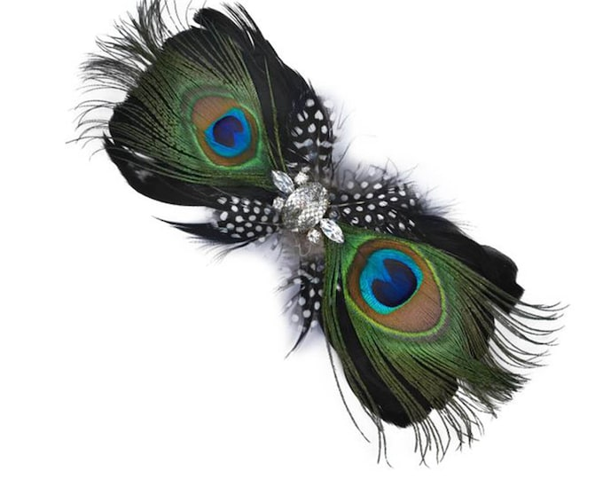 Peacock Feather Brooch and/or Hair Accessory