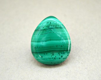 Malachite natural stone cabochon  22 х 19 х 4 mm