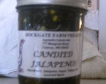 Candied Jalapenos, Cowboy Candy, Sweet with Heat, Naturally Grown