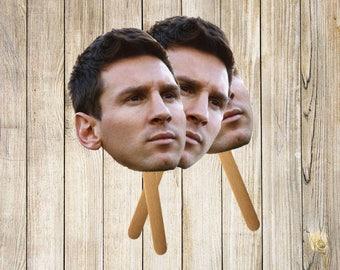 Lionel Messi Face Cutout | Cute Cutouts | 6/12 Pack