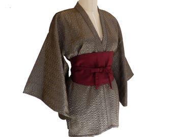 Silver Rain Kimono