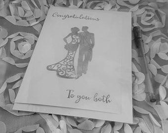 Wedding Card, Personalized Wedding Card, Custom Wedding Card, Personalised, Handmade Wedding Card, Bride and Groom