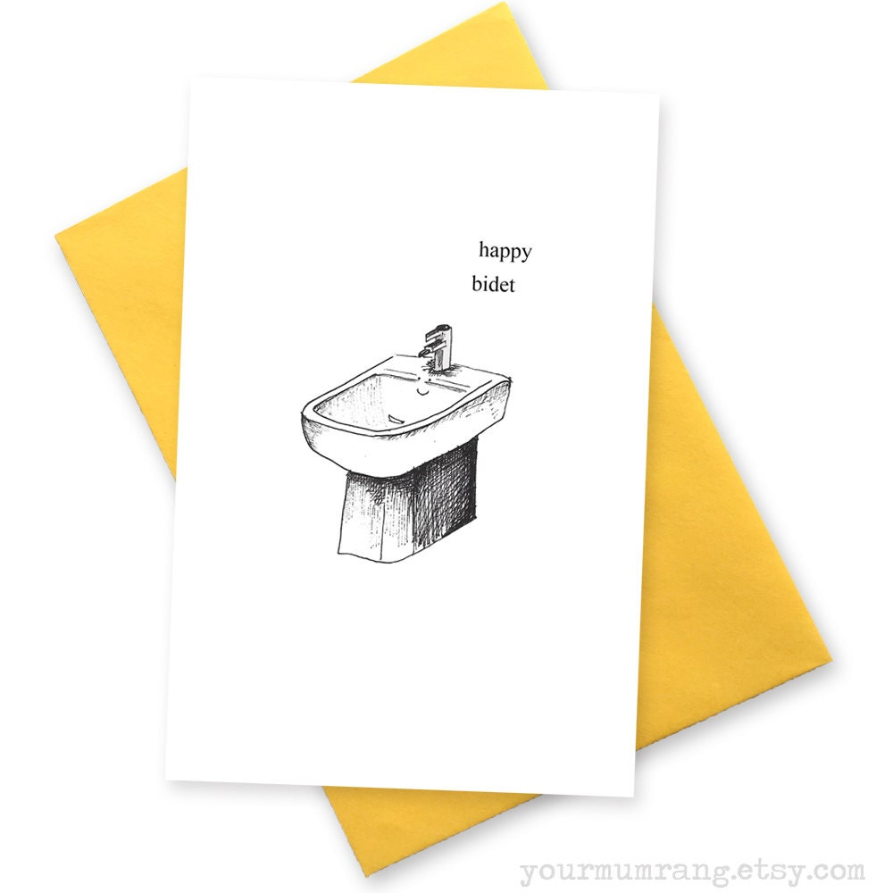 Happy bidet funny birthday card greetings cards for zoom kristyandbryce Image collections