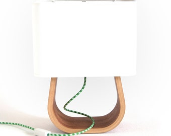 Table Lamp Mahogany Bent Plywood | Bedside Lamp | Modern Table Lamp | Wood Lamp | Desk Lamp | Bedroom Lamp | Modern Lamp | Mid Century Lamp
