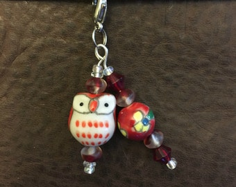 Red Owl Planner Charm