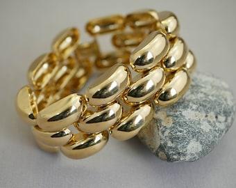 Vintage Bracelet Link Bracelet Vintage Napier Bracelet Gold Link Bracelet