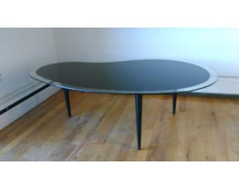 Mid Century Modern Kidney Shaped Coffee Table