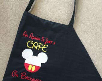 Mickey Mouse Apron / Embroidered apron / Customization avaliable