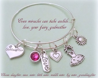 Gift for goddaughter etsy goddaughter charm bracelet gift for goddaughter gift ideas for granddaughter mother to daughter negle Images