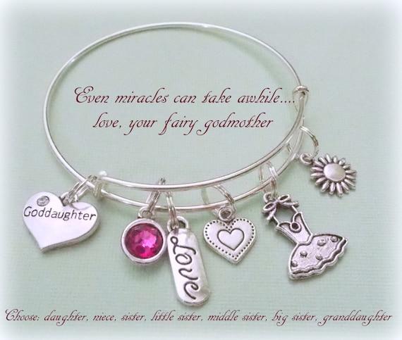 Goddaughter charm bracelet gift for goddaughter gift ideas like this item negle Choice Image