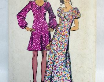 Vintage 1970's Simplicity Dress Pattern 9446 Size 9 Complete Bust 32