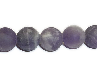 Amethyst - Cape/Dogtooth (Natural) A Grade Matte - Frosted Round Beads (8mm, 10mm, 12mm)