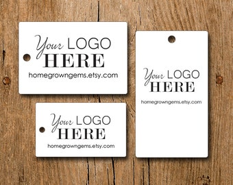 Rectangle Hang Tags  - Your Logo and Text - Customized Price Tags Jewelry Hang Tags Labels