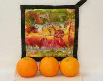 Potholder Florida Tropics with Oranges