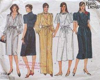 Vogue Womens Basic Design Dress Pattern 1156