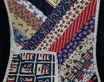4th of July Quilted Patchwork Table Runner