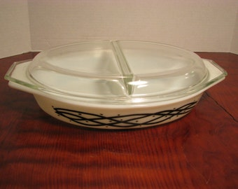 Vintage Pyrex Barbed Wire Casserole with Lid