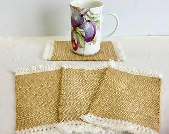 Handwoven Mug Rugs