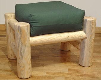 Log furniture Rustic Snow Creek Ottoman