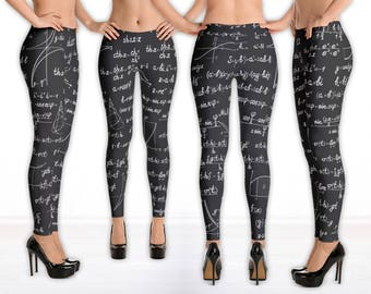 Mathematics Science Leggings, Math Teacher Gift, Pi Day 2018, Mathematician Graduation, Maths Geek, Nerd All-Over Print Cut & Sew Leggings