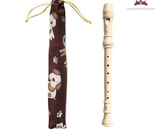 Handmade recorder case, Pouch Flute, Flute bag, Flute pouch, Flute case