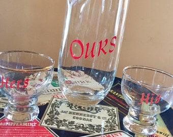 His, Hers and Ours Pitcher and tumbler set
