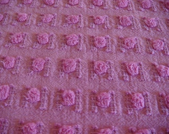Morgan Jones Rosebud Vintage Chenille Bedspread Fabric