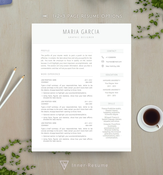 Clean Resume Template CV for Word