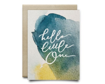 Hello Baby Boy Greeting Card
