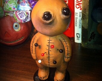 Halloween horror clay voodoo doll made to order
