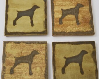 Weimaraner, Ceramic Coasters, Pet Loss Gifts, Drink Coasters, House Warming Gift, Illustration, Coasters,