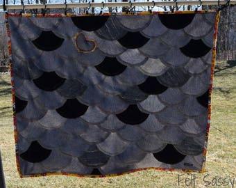 Wool Sweater Baby Blanket - Recycled Wool Sweaters - Mermaid Fiesta - by FeltSassy