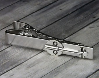 Music Tie Clip – Music Tie Bar – Banjo Tie Clip - Mens Accessories - Valentines Day - Gifts for Him - Mens Jewelry - Gifts for Dad - Banjo