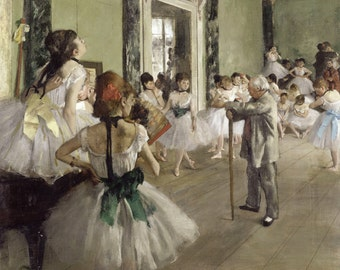 The Dancing Class by Edgar Degas, in various sizes, Giclee Canvas Print