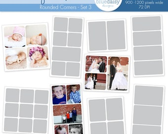 Photo Blog Template Collection (Set 3 - Round Corners) - Photographer Resources