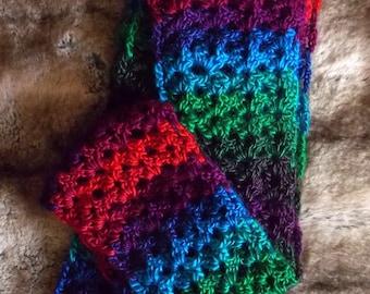 Bejeweled Crochet Scarf