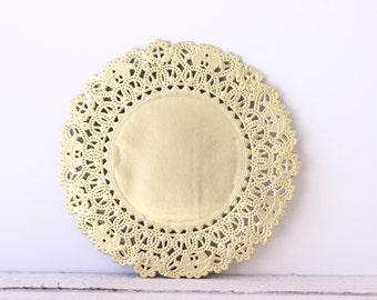 "Metallic Gold Doily - Lace  Paper 5"" Doilies - Wedding Decoration, Vintage Wedding, Lace Doilies, Bridal Showers, Gold Wedding"