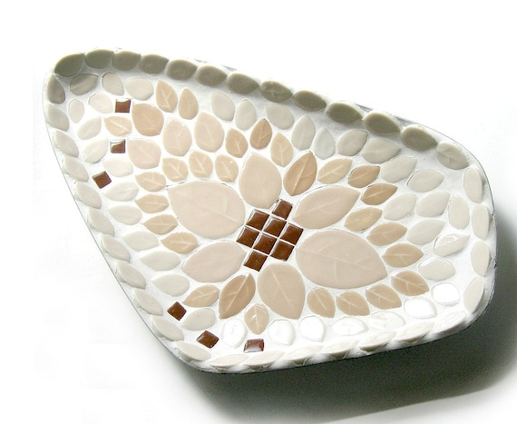 Mid Century Mosaic Dish, Vintage Mosaic Home Decor, Atomic Mosaic Dish, Boomerang Retro Tile Dish, Vintage Mosaic Tile Dish