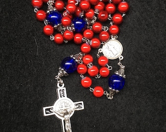 University Crimson and Blue St. Benedict Rosary