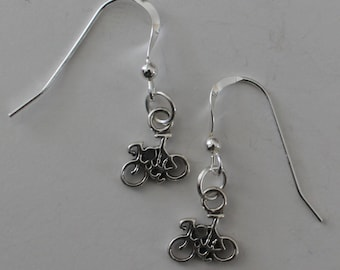 Sterling Silver BICYCLE Earrings - Sports